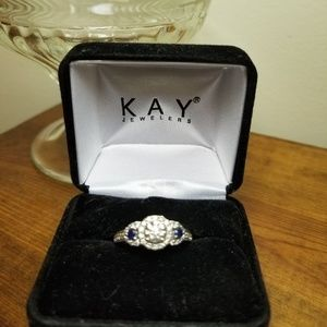 14wg diamond engagement ring.  Size 7